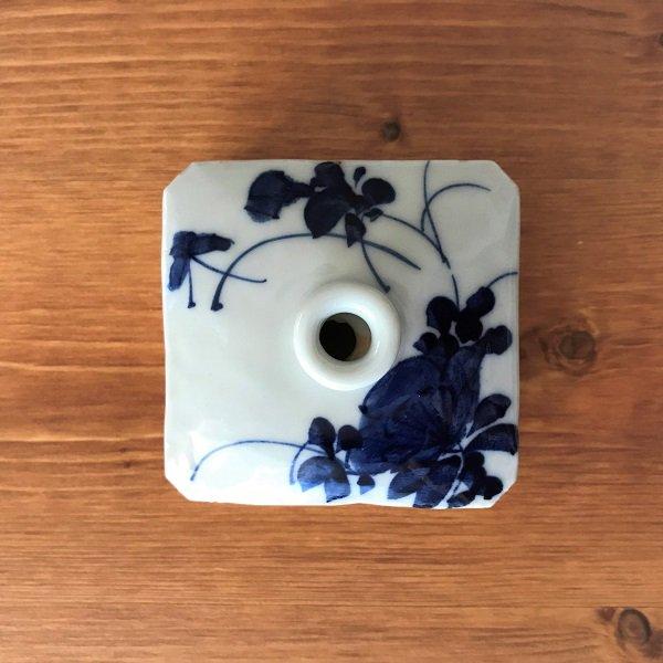 染付油壷(一輪挿し)【日本・明治前期】の画像