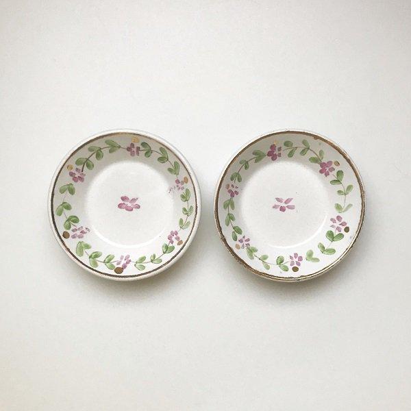 小花柄の豆皿【フランス・19世紀後半】の画像