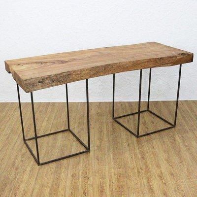 クスノキ一枚板ロングテーブルの画像