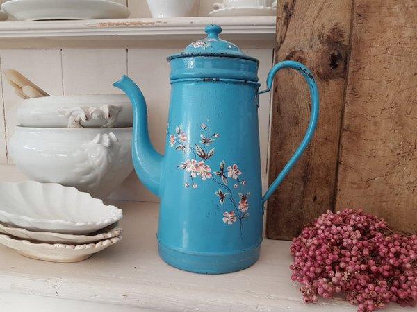 アンティ—クホーロー花柄コーヒーポットの画像