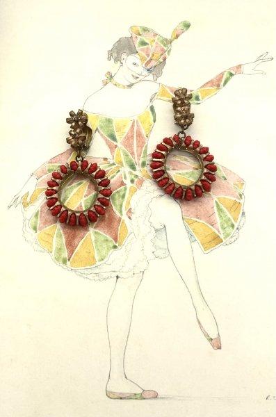 vintage earrings ( 1930's)の画像