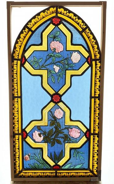 バラのステンドグラスの画像