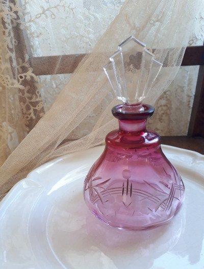 クランベリーガラス パフュームボトルの画像