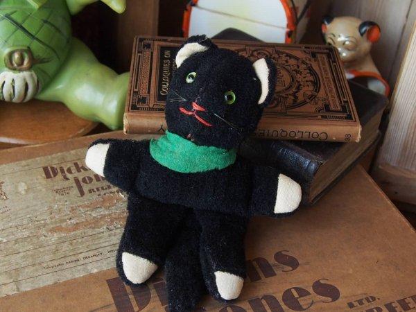 イギリスアンティーク 黒ネコの画像