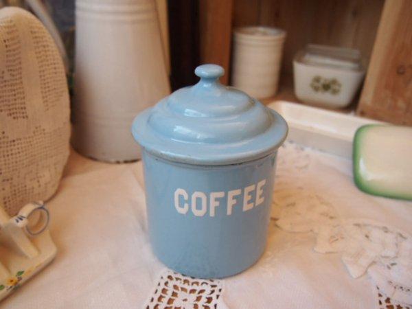 イギリスアンティーク キャニスター(COFFEE)の画像