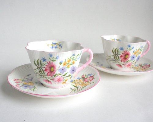 イギリスShelley製カップ&ソーサーの画像