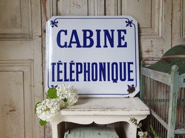 ホーローCABINE TELEPHONIQUEサインボードの画像