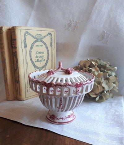 フランス 陶器のポプリポット の画像