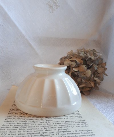 フランス アンティーク 白い小さなカフェオレボウル の画像