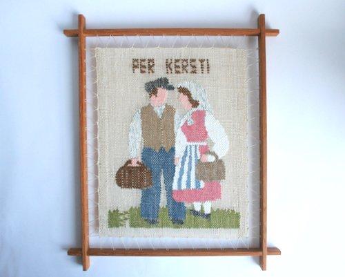 スウェーデン製手織の壁掛けの画像