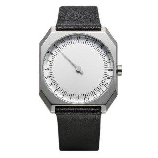 SLOW WATCH SLOW JO 05 Black Leather, Silver Case, Silver Dial