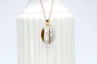 Mist oval pendant