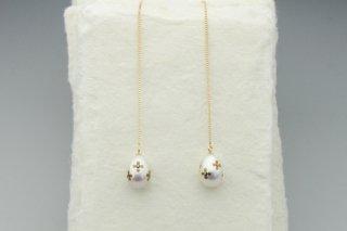 Floret dot pearl chain
