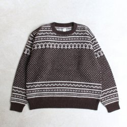 KAPTAIN SUNSHINE [キャプテンサンシャイン] ''Snowy Patterned Sweater'' (MEN'S)<img class='new_mark_img2' src='https://img.shop-pro.jp/img/new/icons13.gif' style='border:none;display:inline;margin:0px;padding:0px;width:auto;' />