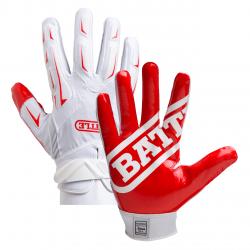 Battle ULTRA-STICK Hybrid Gloves ホワイト・レッド