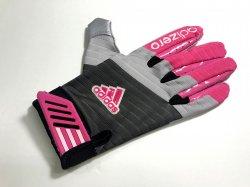 XLサイズ ADIDAS ADIZERO SMOKE レシーバーグローブ ブラック・ピンク