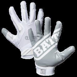 BATTLE HYBRID FOOTBALL GLOVES ホワイト・グレー