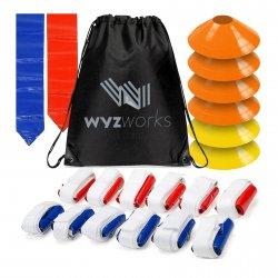 WYZworks FLAG FOOTBALL コーン&ベルト 6カラー 12人分