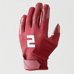 TWO MINUTES FOOTBALL GLOVES バーガンディレッド