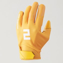 TWO MINUTES FOOTBALL GLOVES クロムイエロー
