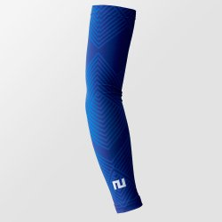 TWO MINUTES FOOTBALL ARM SLEEVES シェブロブルー