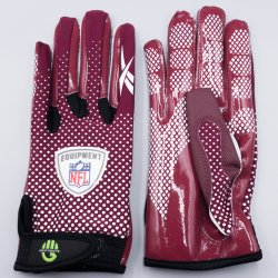 Mサイズ Reebok NFL FADE Football Gloves マルーン