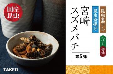 昆虫煮干し へべす醤油 宮崎スズメバチ