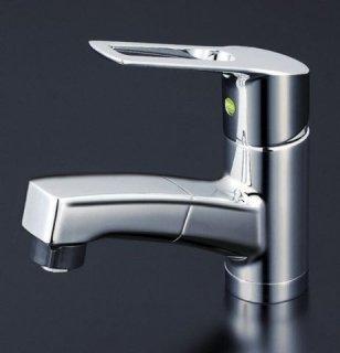 KVK 洗面用シャワー・ホース引出しタイプ/シングルレバー混合栓 eレバー KM8001TFEC