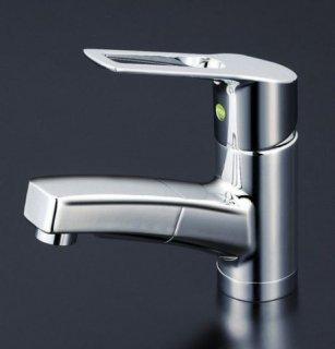 KVK 洗面用シャワー・ホース引出しタイプ/シングルレバー混合栓 eレバー KM8001TEC