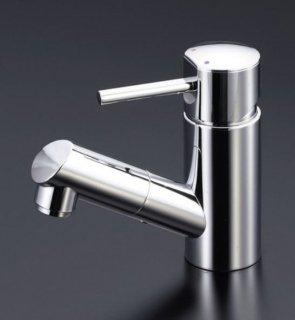 KVK 洗面用ホース引出しタイプ/シングルレバー混合栓 LFM670