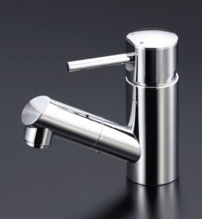 KVK 洗面用ホース引出しタイプ/シングルレバー混合栓 (寒冷地用) LFM670W