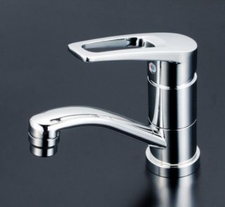 KVK 洗面用シングルレバー混合栓 吐水口回転規制付 (寒冷地用) KM7011ZT