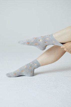 Lame Hall Mix Knit Socks - COLOR SELECT