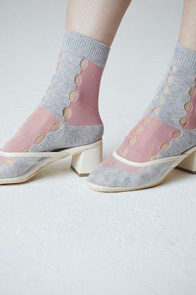 Block Knit Plane Socks - COLOR SELECT