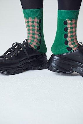 Gingham Check Hall Socks - COLOR SELECT