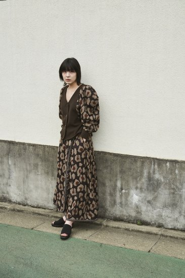 Design Motif Skirt - DARK BROWN