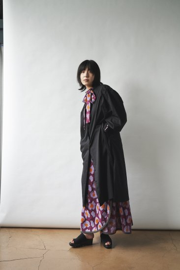 Design Motif Skirt - WINE PURPLE