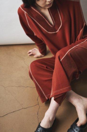 Lib & Corduroy Jersey  Pants - BRICK