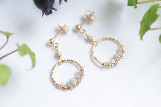 K14GF【diamond hoop】ダイヤモンドフープ・ピアス/イヤリング(1)[ダイヤモンド]