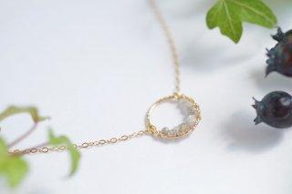 K14GF【diamond hoop】ダイヤモンドフープ・ネックレス[ダイヤモンド]