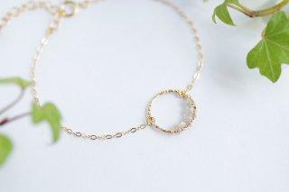 K14GF【diamond hoop】ダイヤモンドフープ・ブレスレット[ダイヤモンド]