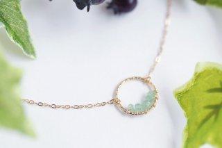 K14GF【emerald hoop】エメラルドフープ・ネックレス[エメラルド]