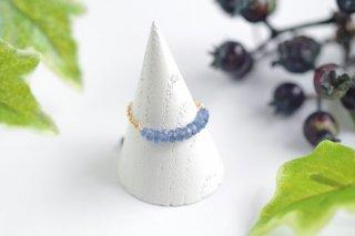 K14GF【sapphire drops】サファイアドロップス・チェーンリング(2)[ブルーサファイア]
