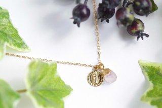 K14GF【prayer stone】祈り石・ネックレス[ローズクォーツ]