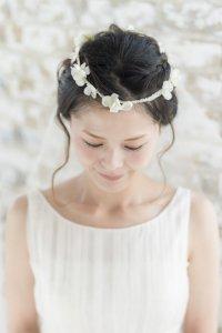 ベール付きヘッドドレス (ホワイトグリーン)