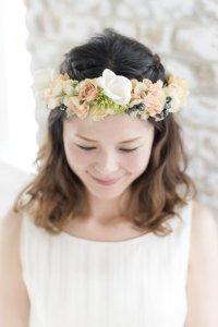 プルメリアとブルーベリーの花冠