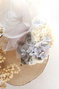青い小花のヘッドドレス