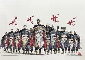 王欣太 『赤壁への陣容』 (原画)