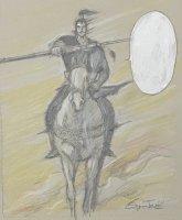 王欣太 『関羽の青龍刀』 (原稿前原画)