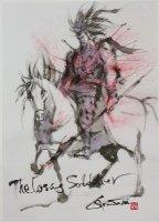 王欣太 肉筆ドローイング 「The Losing Soldier」